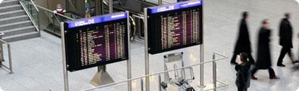 Aeropuertos, Puertos, Estaciones de viajeros